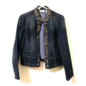 Darling Chico's Jean Jacket Embellished